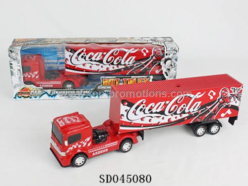 Friction container truck toy