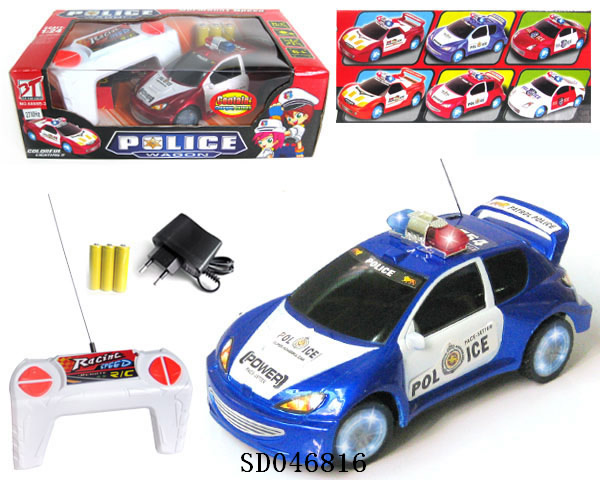 4 function R/C Police car