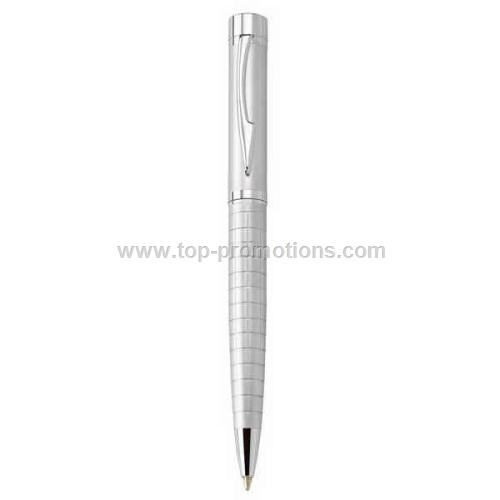 Metal pen with Ridged Barrel
