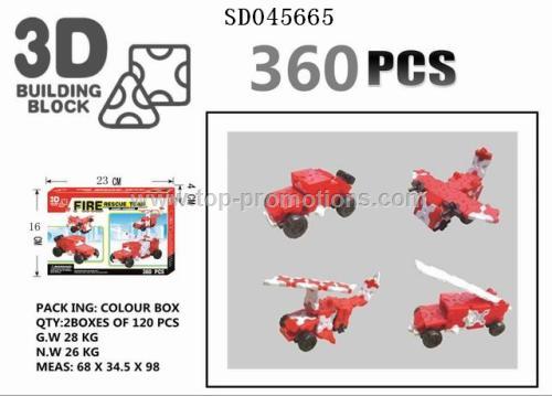 3D block toys