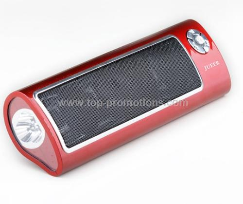 Portable Speaker with flashlight, Supports SD/USB,