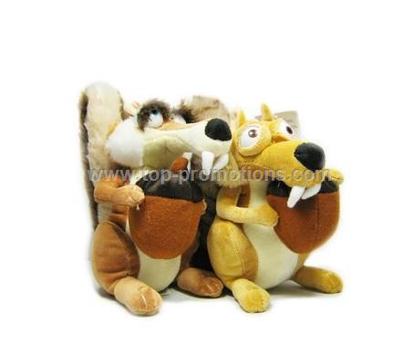 19CM Ice Age Couple squirrel Couple toy