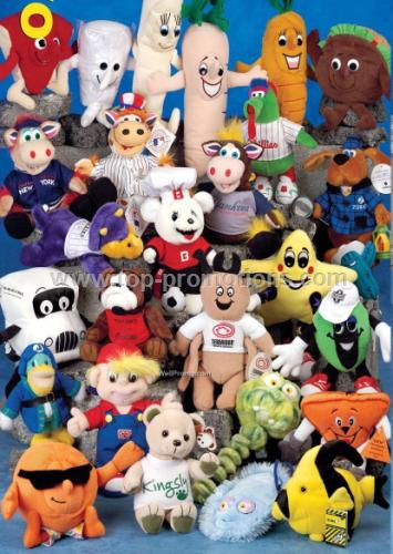 Assorted Custom Plush Stuffed Animals