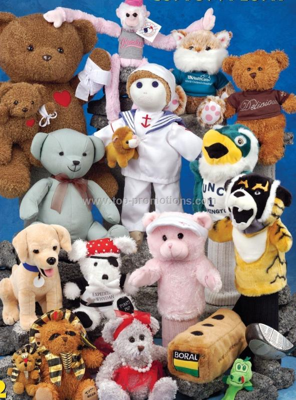 Custom Plush Stuffed Animals Assorted Color