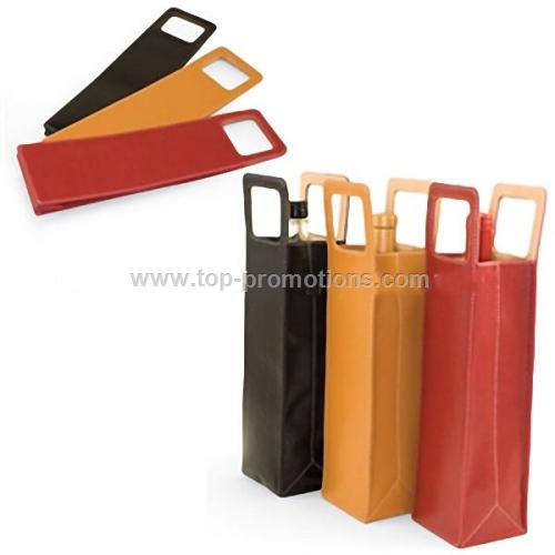 Picnic Time Firenze 1-Bottle Leatherette Wine Tote