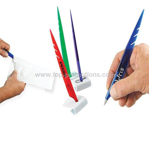 Letter Opener Pen, Feather Pen with White Stand