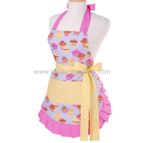 Women Frosted Cupcake Apron
