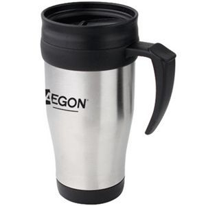 16 Oz. Stainless Steel Travel Mug with Handle