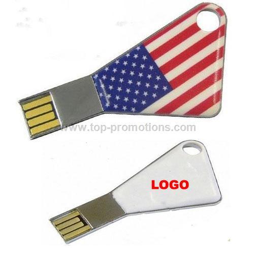 Fullcolors Printed Key Shaped USB Flash Drives