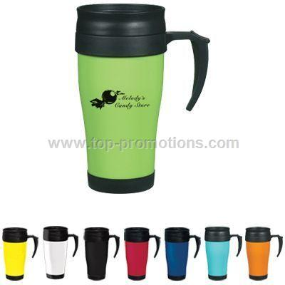 16 OZ EXECUTIVE PLASTIC INSULATED AUTO TRAVEL MUG