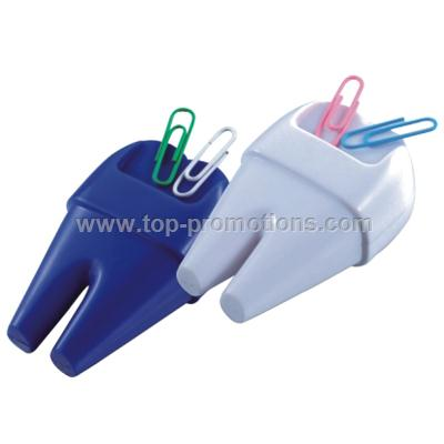 Tooth Shaped Paper Clip Dispenser