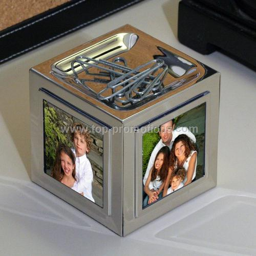 Frame Cube and Magnetic Paper Clip Holder