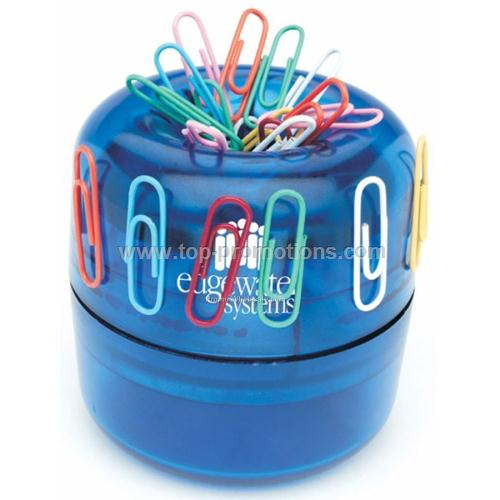 Premium Paper Clip Dispenser With Paper Clips