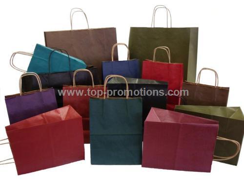 8 x 4 x 10 - Tinted kraft bags.