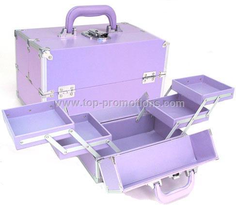 Pink Makeup Train Case