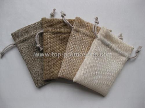 Promotional Small Burlap Drawstring Bag