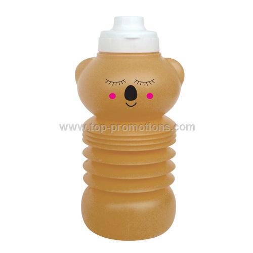 collapsible water bottle koala shaped