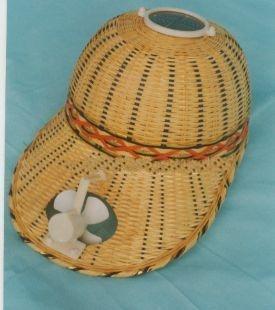 Solar Fan Caps Solar bamboo caps