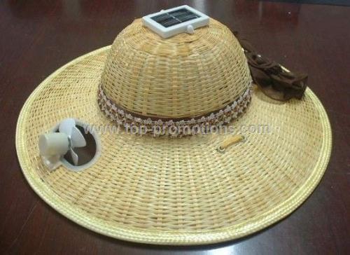 Solar Fan Cap,Solar bamboo caps