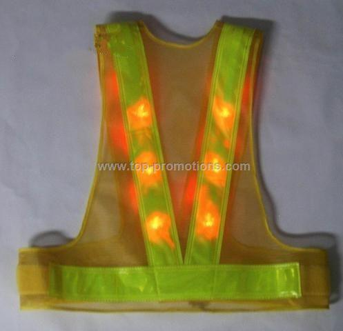 LED Reflective safety vest