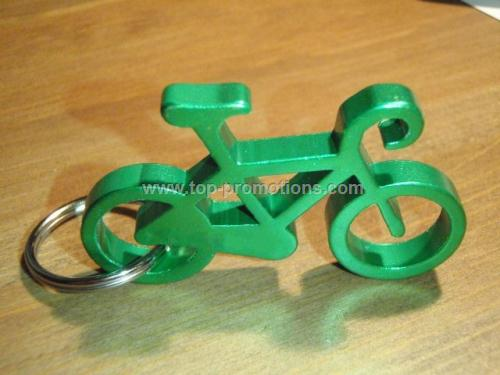 Bicycle Bottle Opener Keychain