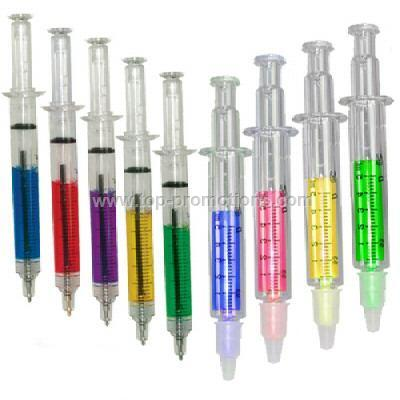 Syringe shape ball pen