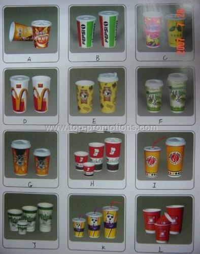 Series of Paper Cups with Lids