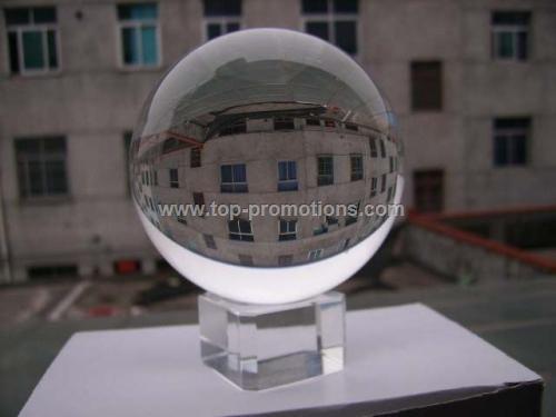 Glass crystal balls