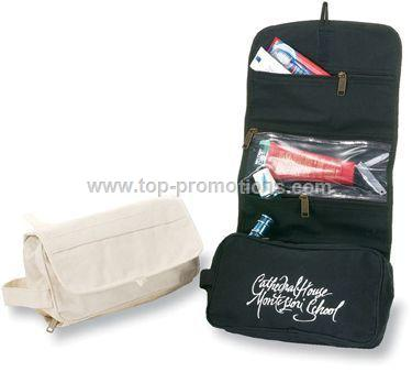 Trifold Toiletry Bag - natural