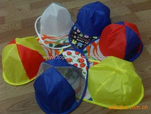 Assorted folding caps
