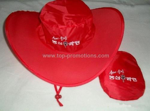 Red Folding Cap