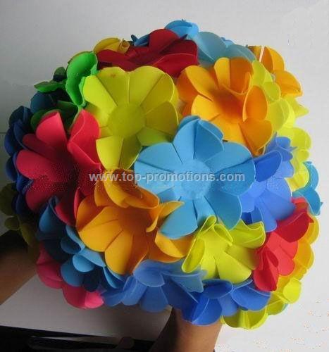Flower swimming cap