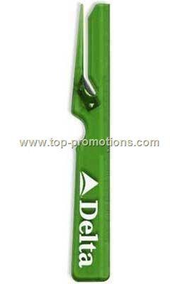 Plastic letter opener