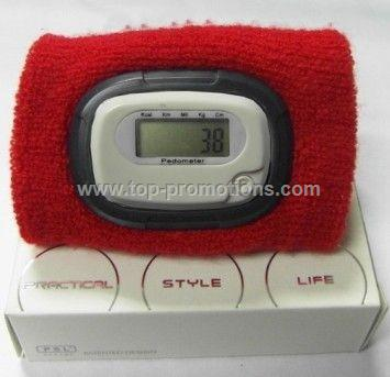 sport pedometer with wristband