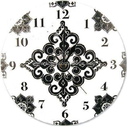 Wall Clock in Black and White