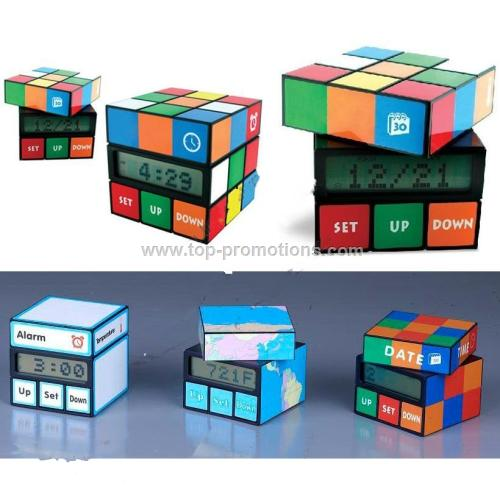 Twist Rubik is s Magic Cube Calendar Clock
