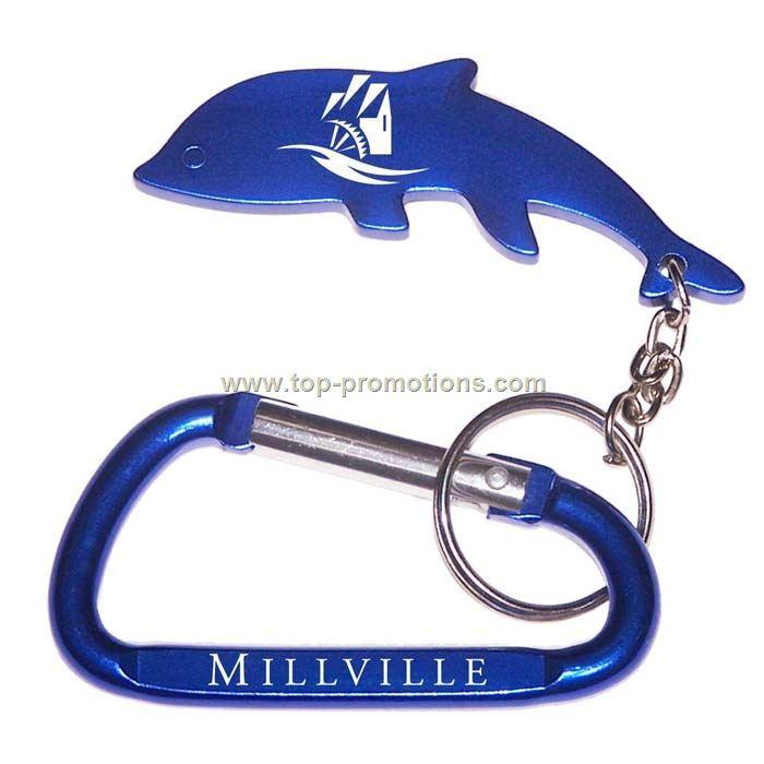 Dolphin Shape Bottle Opener Key Chain carabineer