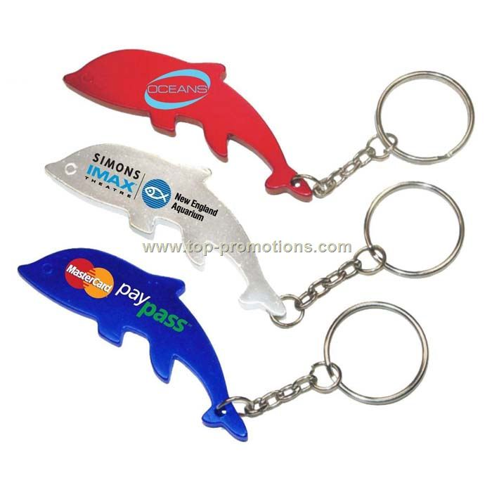 Dolphin Bottle Opener Key Chain