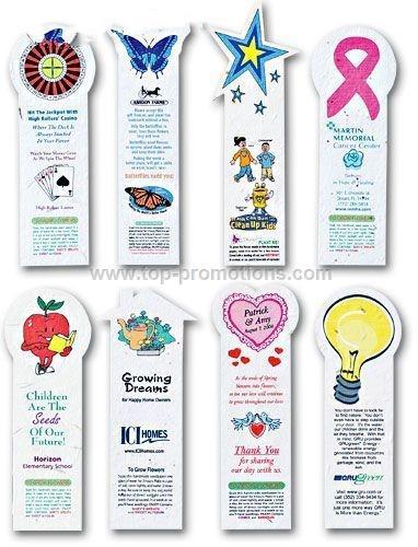 Seeded Paper Die Cut Bookmark