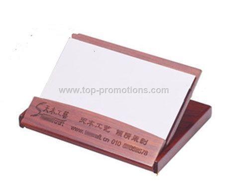 Rosewood folding card holder