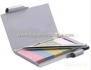 Aluminum Note Pad &holder
