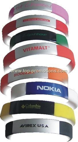 Silicone Wristband with Steel Plate - Direct