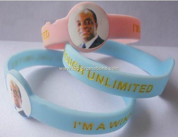 silicone wristband/image imprint