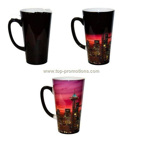 17 oz. Latte Color Changing Sublimation Photo Mug
