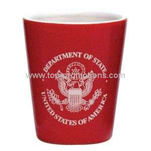 2 Oz Red Shot Glass