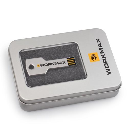 Key shape USB in metal box