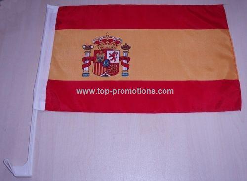 Spain car flag