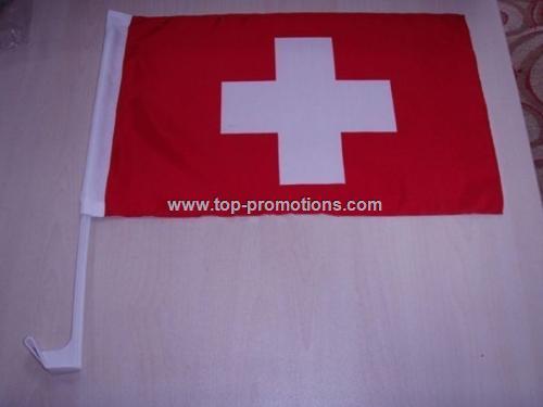Switzerland car flag