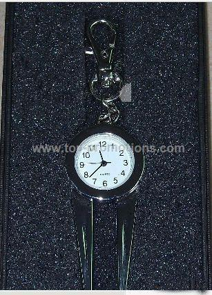 Golf Divot tool with watch