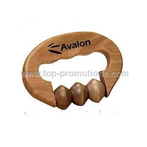 Wooden hand grip massager